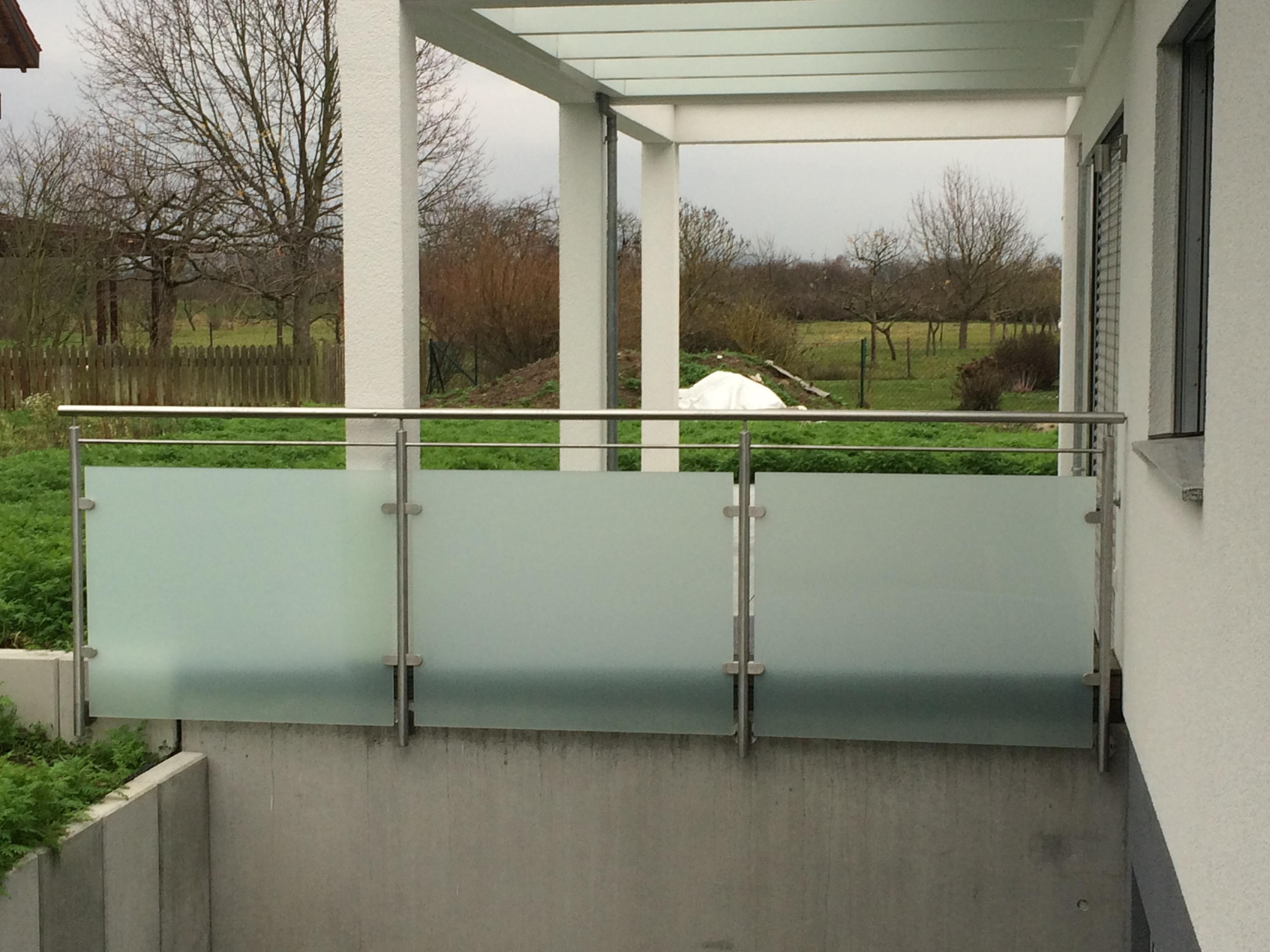 Edelstahl Geländer Glas Bietigheim 4