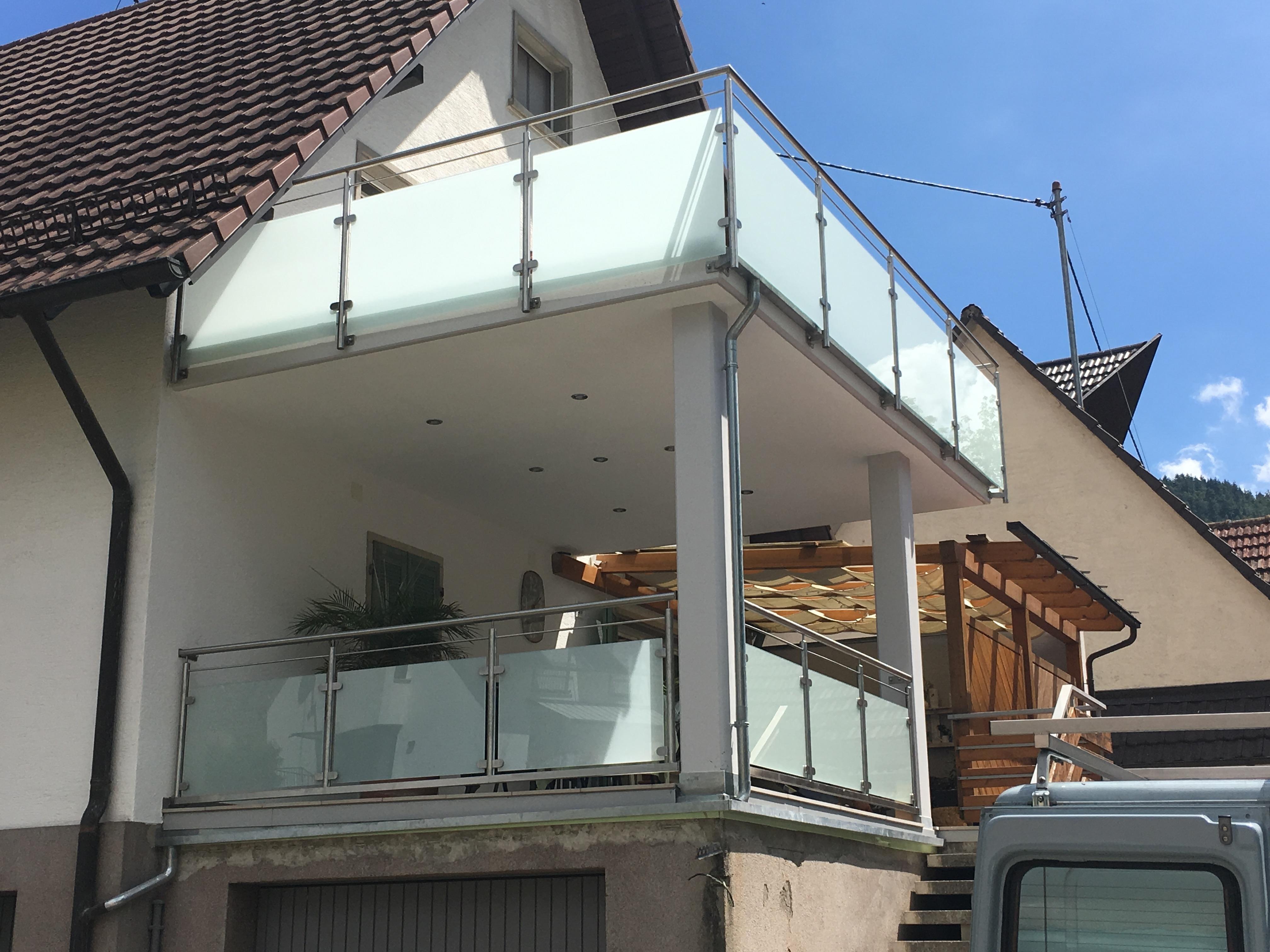 Edelstahl Geländer Glas Offenburg